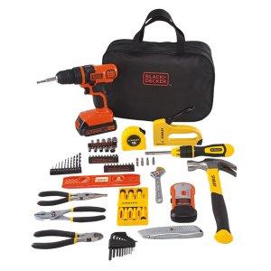 BLACK+DECKER 20V无绳电钻+工具包85件套装