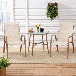 $56.3 (原价$149)Mainstays 庭院户外桌椅3件套