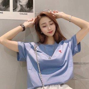 一律7折 €59收封面T恤新色AMI Paris 私密震撼大促 大爱心卫衣、T恤、开衫年度好价