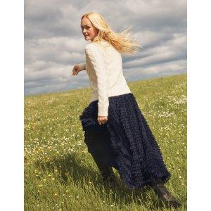 BodenRachael Skirt - Navy | Boden US