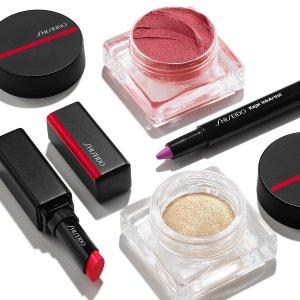 限时8折+直邮中国即将截止:Shiseido 新款彩妆热卖    收绸缎唇膏、新版PK107、慕斯腮红