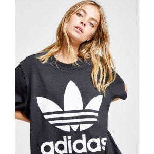 $28(原价$40)+包邮补货:adidas 三叶草女款时髦宽松T恤促销, 码全