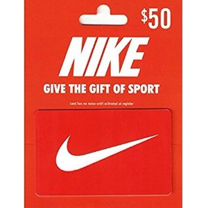 $10 Nike Gift Card for $50