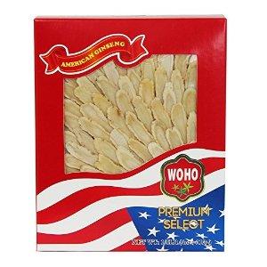 WOHO#126.4 American Ginseng Slice Medium 4oz Box