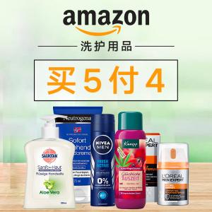 变相8折 Sagrotan洗手液€1.56Amazon 个人洗护用品买5付4 收男女洗护、美妆、清洁用品