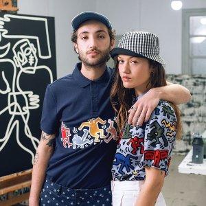 6折+额外8折+免邮 短袖$45最后一天:Lacoste x Keith Haring 合作款热卖 时尚摩登范