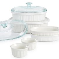 Corningware 炻瓷烤盘10件套 纯白色
