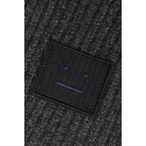 Acne StudiosBansy appliqued ribbed wool scarf