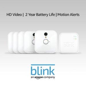 Blink 室内无线安防摄像头系统 5摄像头套装