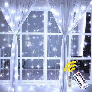 5折 €8.99收 2种色温可选闪购:Ollny 梦幻星空LED窗帘灯链 小仙女的家就该blingbling的