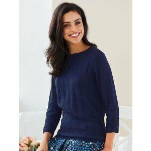 Elisabeth Williams® Pointelle Sweater