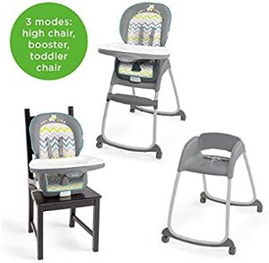 $48Ingenuity Trio 3-in-1 High Chair – Ridgedale - High Chair, Toddler Chair, and Booster