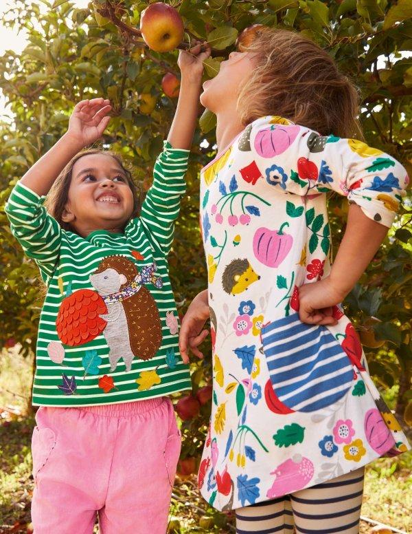 女孩印花裙式上衣