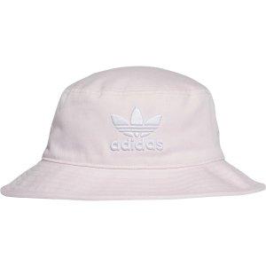 Adidas粉色三叶草渔夫帽