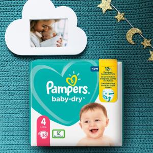 120片仅€36.72 原价€45.99Pampers 帮宝适纸尿裤 360度防漏 超级吸收芯 干爽舒适
