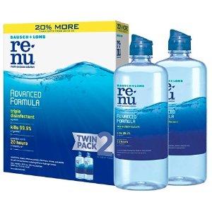 $9.29 包邮 1瓶仅$4.62博士伦 ReNu 隐形眼镜清洁理液 354ml 2瓶