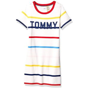 6d454f815053 Tommy HilfigerTommy Hilfiger Women's Adaptive Tommy Striped Dress with Magnetic  Closure at Shoulders