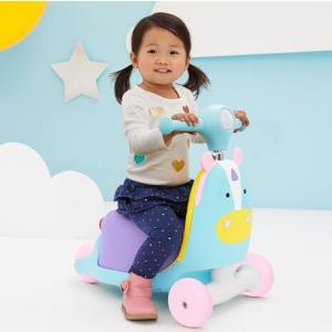 $48包邮(原价$80)2020跨年礼:Skip Hop 动物园系列三合一童车 粉嫩独角兽
