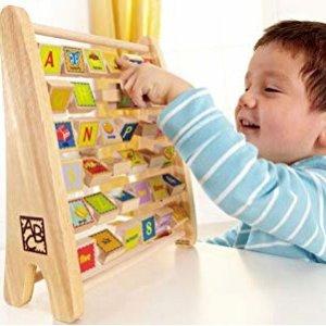 $13 早教好帮手Hape 儿童数字字母多功能珠算架