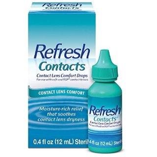 $6.78 包邮 滋润双眼Refresh Contacts 隐形眼镜专用眼药水 12ml