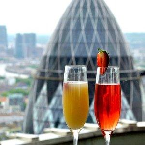 低至53折 金融城香槟下午茶Vertigo香槟套餐2/4人佐小食 观景台俯瞰泰晤士河 大本钟