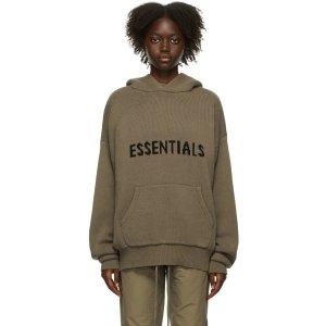 Essentials灰褐色针织套头衫