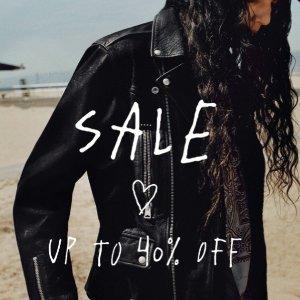 6折起 €37收T恤AllSaints官网 夏季大促开场 收经典皮衣、甜酷连衣裙、牛仔裤