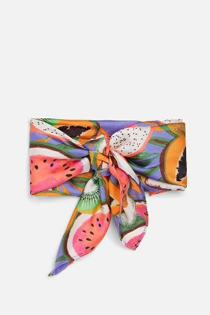 PRINTED SCARF - Scarves-ACCESSORIES-WOMAN | ZARA United States