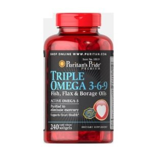 $23.03Puritan's Pride Triple Omega 3-6-9 Fish, Flax & Borage Oils