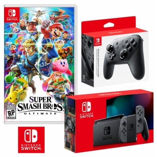 Nintendo Switch 续航版 + 任天堂明星大乱斗 + Pro控制器 套装