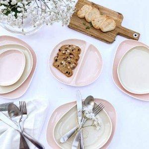 低至5折 餐盘$2.77起Linenchest 餐具热卖 $37.46收玫瑰餐具16件套