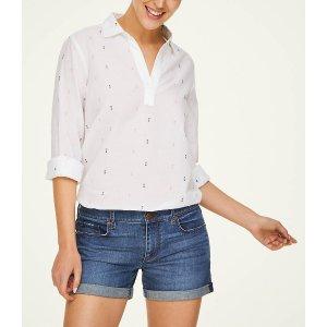 LOFT OutletGeo Split Neck Shirt