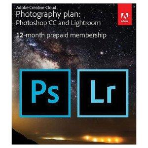 $92.99 a1刚需Adobe Creative Cloud Photography 12月订阅(PS+LR) 带 20GB 云存储