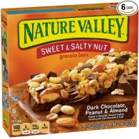 Nature Valley 香脆燕麦棒 花生杏仁黑巧克力  1.49 oz 36条