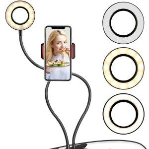 $21.98(原价$35.99)UBeesize 自拍补光灯 3种灯光模式拍出更美的自己