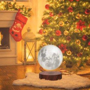 低至€99 把月亮带回家VGAzer 超神奇创意磁悬浮3D打印月球灯 点亮节日气氛