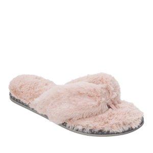 DearfoamsWomen's Faux Fur Thong 拖鞋