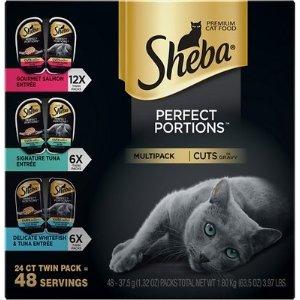 Sheba猫湿粮罐头混合口味 24盒双享包