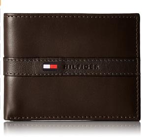 史低价$18.67(原价$25.99)Tommy Hilfiger 男士真皮钱包 深棕色