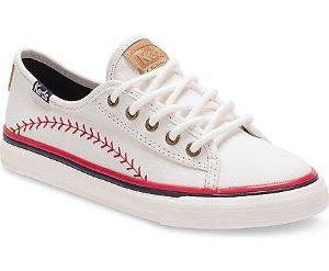 Keds 中大童系带棒球小白鞋