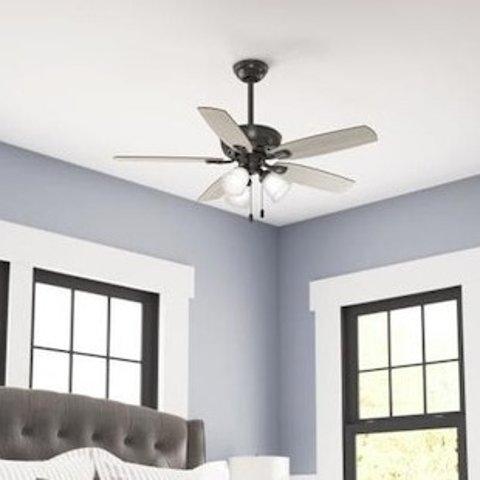 Hunter Belfield LED 48-in Noble Bronze LED Indoor Ceiling Fan