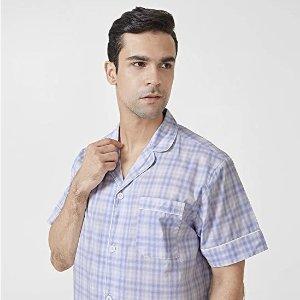 史低$9.99 (原价$27.99)手慢无:David Archy 男士家居服套装 100%纯棉 买到就赚
