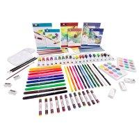 绘画工具箱(含刷子、颜料、彩铅、水笔、油画棒等)