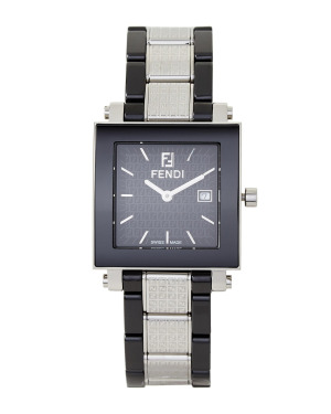 54% OffFendi F631110 Silver-Tone & Black Ceramic Watch @ Century 21