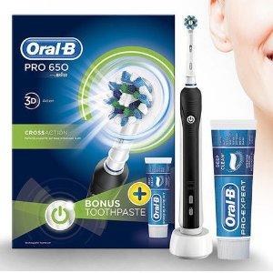 37折 入门级牙刷 £22就入全套ORAL-B 基础款电动牙刷热卖
