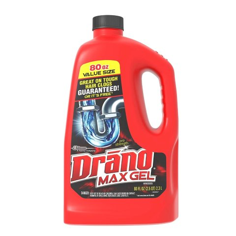 Drano Max Gel Drain Clog Remover and Cleaner for Shower or Sink Drains