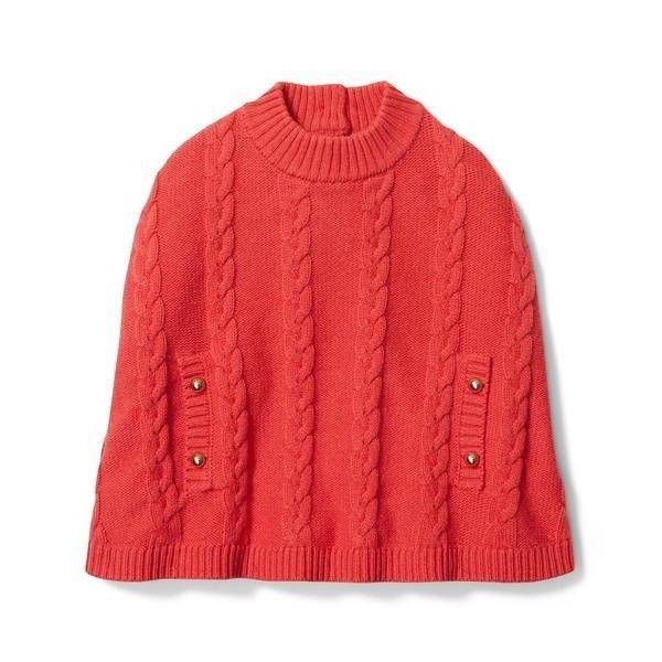 针织披风外套