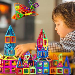 $30.99(原价$35.99)Tomons 56片儿童磁力片套装 带摩天轮支架 彩色创意世界