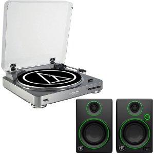 $149Audio-Technica USB Turntable + Mackie CR3 Monitors