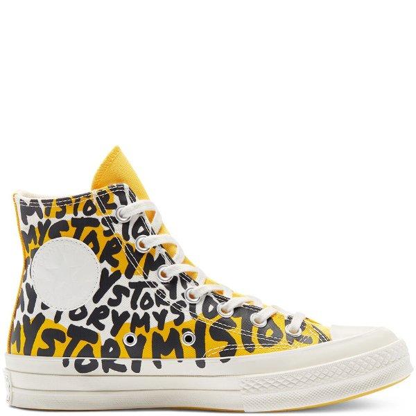 Chuck 70黄色涂鸦款